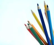 Dibujaron a lápiz varicoloured Fotos de archivo