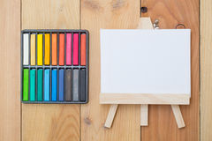 Dibuje el espacio vacío de la lona de pintura para la escuela de la pintura del texto Fotografía de archivo libre de regalías