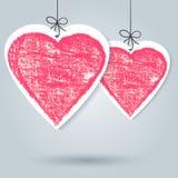 Dibuje a lápiz el corazón a mano del bosquejo, plantilla del fondo del vector libre illustration