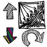 Flechas del drenaje Libre Illustration