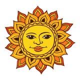 Dibujo étnico del sol Fotos de archivo