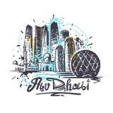 Dibujo abstracto del color de Abu Dhabi Ejemplo del vector del bosquejo de Abu Dhabi stock de ilustración
