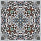 Dibujo abstracto en la escala gris, cuadrado Imagen de archivo libre de regalías