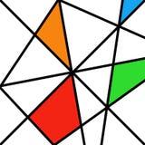 Dibujo antiguo de los viejos Rhombus retros del vector Foto de archivo libre de regalías