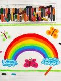 Dibujo: arco iris hermoso imagen de archivo libre de regalías