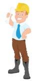 Arquitecto - personaje de dibujos animados - ejemplo del vector stock de ilustración
