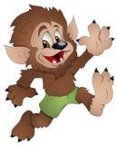 Hombre lobo lindo - personaje de dibujos animados - ejemplo del vector Imagenes de archivo