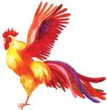 Dibujo de lápiz de un gallo Stock de ilustración