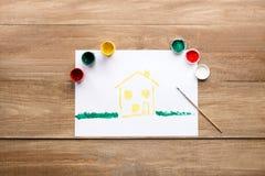 Dibujo de la casa Imagen de archivo libre de regalías