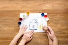 Dibujo de la casa Fotos de archivo libres de regalías