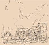 Dibujo de la ciudad ilustración del vector
