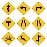 Dibujo de la colección de la señal de tráfico por el ejemplo ilustración del vector