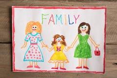 Dibujo de la familia de LGBT Fotos de archivo libres de regalías