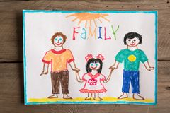 Dibujo de la familia de LGBT Imagen de archivo