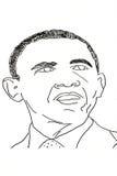 Dibujo de la mano de políticos americanos ilustración del vector