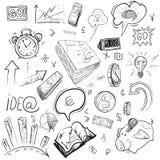 Dibujo de la mano del negocio, ejemplos del vector Fotografía de archivo libre de regalías