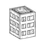 Dibujo de la mano del vector del edificio Fotos de archivo