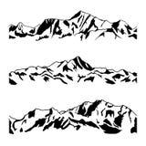 Dibujo de la montaña Imágenes de archivo libres de regalías