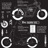 Dibujo de la motocicleta Fotografía de archivo libre de regalías