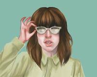 Dibujo de la mujer Imágenes de archivo libres de regalías