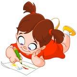 Dibujo de la niña Imagen de archivo libre de regalías