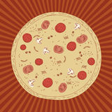 Dibujo de la pizza Foto de archivo