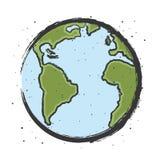 Dibujo de la tierra con los satalites del espacio fotografía de archivo