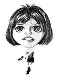 Dibujo de las mujeres Fotos de archivo