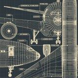 Dibujo de los aviones civiles imagenes de archivo