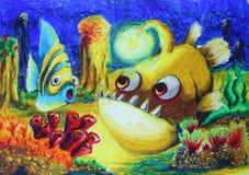 Dibujo de los pescados Fotografía de archivo libre de regalías