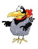 Dibujo de personaje de dibujos animados divertido del pájaro del cuervo Foto de archivo libre de regalías