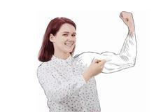 Dibujo de sus músculos stock de ilustración