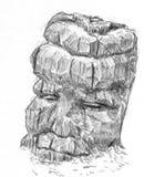 Dibujo de un ídolo triste Imagen de archivo