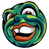Dibujo de un emoticon con una cara malvada ilustración del vector