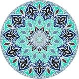 Dibujo de una mandala floral Fotografía de archivo