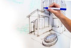 Dibujo de Whiteboard Fotografía de archivo libre de regalías