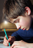 Dibujo del adolescente Imagenes de archivo