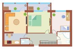 Dibujo del apartamento Fotos de archivo libres de regalías