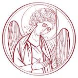 Dibujo del arcángel stock de ilustración