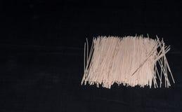 Dibujo del bronce de los espaguetis del trigo de trigo duro Fotografía de archivo libre de regalías