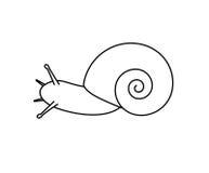 Dibujo del caracol Fotos de archivo