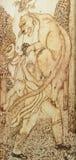 Dibujo del Cautery hecho en la madera Fotos de archivo