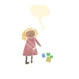 dibujo del child de una mujer Imagenes de archivo