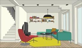 Dibujo del color del interior Imágenes de archivo libres de regalías