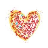 Dibujo del corazón Fotografía de archivo libre de regalías