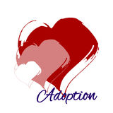Dibujo del corazón de la mano La adopción Fotos de archivo