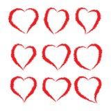 Dibujo del corazón - vector y ejemplo fotos de archivo