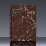 Dibujo del detalle arquitectónico abstracto en superficie plana libre illustration
