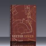 Dibujo del detalle arquitectónico abstracto en superficie plana stock de ilustración