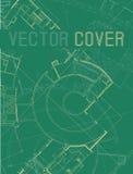 Dibujo del detalle arquitectónico abstracto en superficie plana ilustración del vector